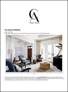 CA Home and Design August 2019 High End Interior Designers