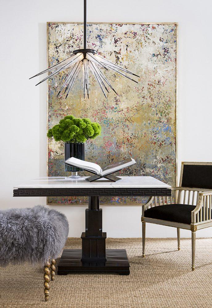 Delacroix Marble Gallery Table Interior Design Room Scene