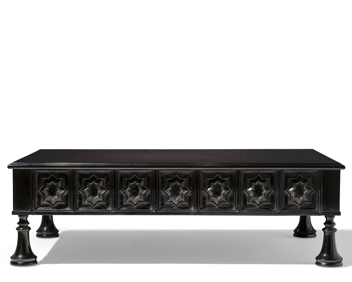 Polished Hand-Planed Andalus Rectangular Cocktail Table
