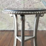 White Gold Bolzano Side Table Closer Look Collection Ten