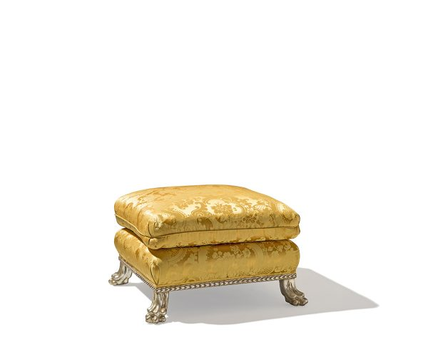 Gold Cavello I Footed Ottoman