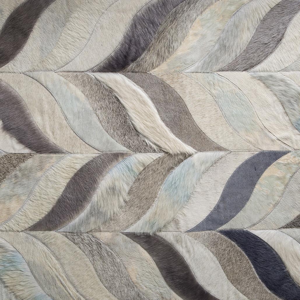 Ebanista-Modern-Textured-Rug-LEAVES-SKY-BLUE-GRAY primary