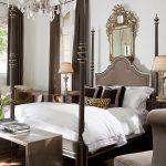 Prado Bed with Bardot Chandelier