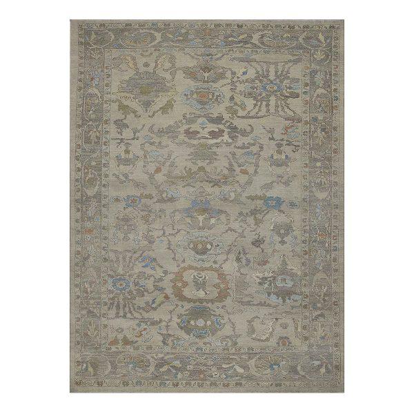 Ivory Ushak C841-088-377 Traditional Area Rug
