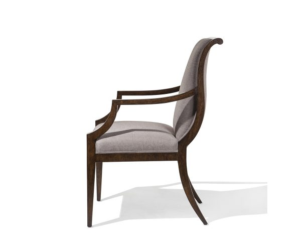 Brunello Arm Chairs Side View