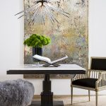 Etoile Oversized Chandelier Next to Delacroix Gallery Table