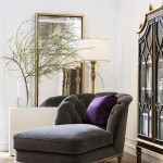 Marchese Chaise Lounge with Purple Pillow