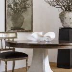 Altare Mirror Next To Marquis Dining Table