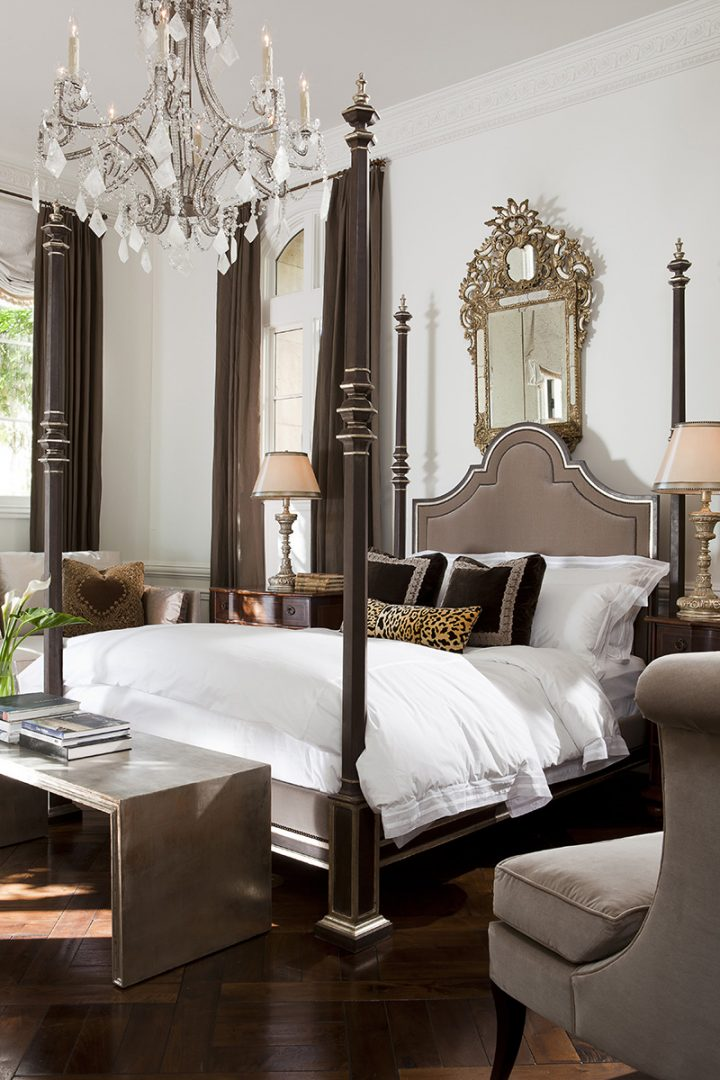Unique Bedroom Sets - Prado Bed Lifestyle - four post bed and an arched headboard