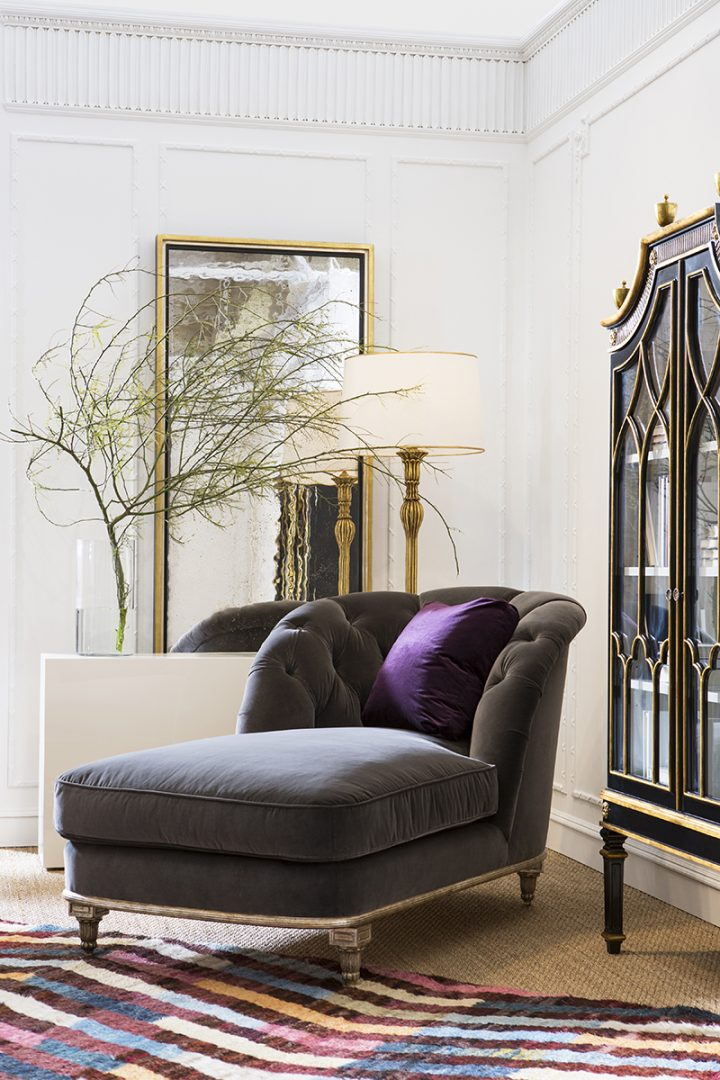 ebanista_evolution collection_marchese chaise w purple pillow