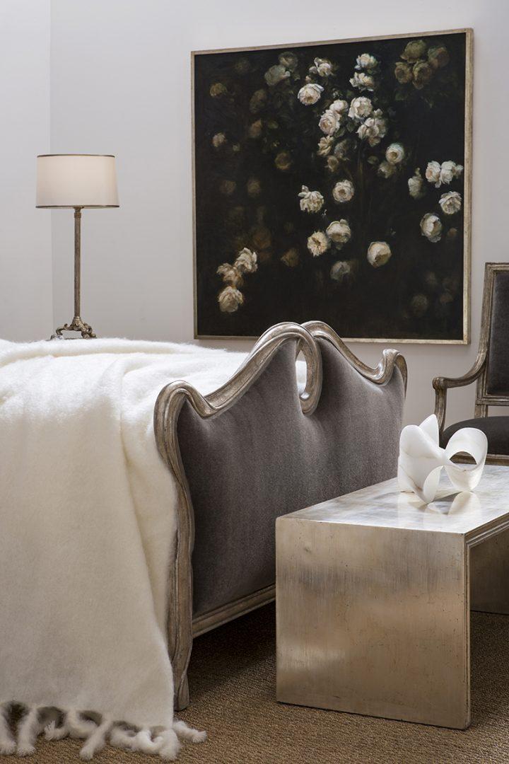Beau Ruban Bed with Parc De Bagatelle Painting